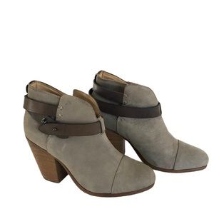 Rag and Bone Harrow Grey Suede Ankle Boots, 36